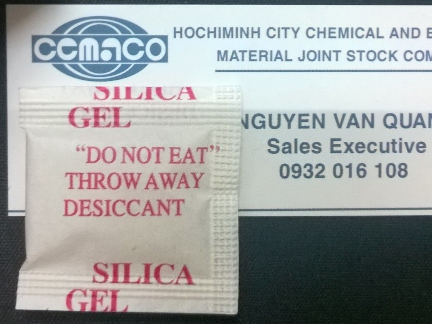 gói hút ẩm 1 gram giấy coton